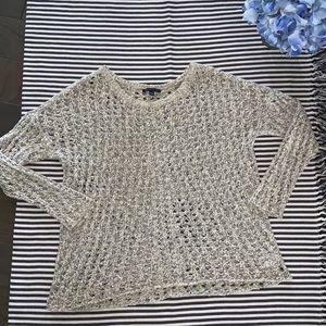 Oversized Crocheted Sweater